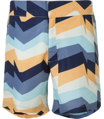 frescobol carioca copacabana graphic-print swim shorts - blue