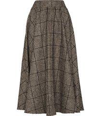 dolce & gabbana checked wool skirt - brown