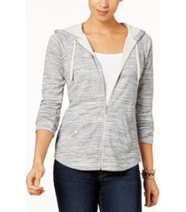 style & co petite french terry zip hoodie, created for macy's