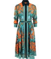 jungle orange vera dress