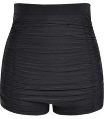 ruched plus size swim shorts
