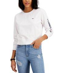 tommy jeans logo-sleeve sweatshirt