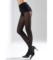 natori velvet touch high heel tights, women's, black, microfiber, size l/xl natori