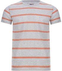 camiseta hombre jaspe doble linea color gris, talla l