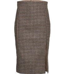 pipe skirt knälång kjol brun hope