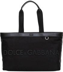 dolce & gabbana nylon tote bag with logo