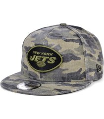 new era men's new york jets worn camo 9fifty cap