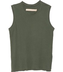 fitted muscle tee in army