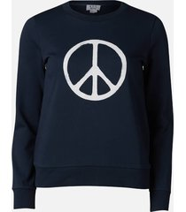 a.p.c. women's peace sweatshirt - dark navy - l
