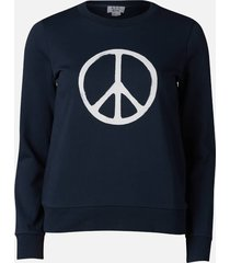 a.p.c. women's peace sweatshirt - dark navy - s