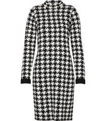 dress knitwear jurk knielengte zwart taifun