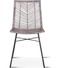world interiors bali kubu rattan dining chairs, set of 2
