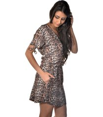 vestido curto banca fashion casual chique marrom