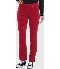 pantalón wados basico rojo - calce ajustado