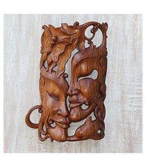 wood mask, 'nature's romance' (indonesia)