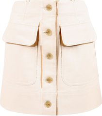 acne studios two-tone skirt