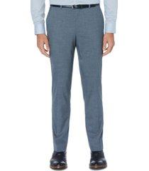 perry ellis men's portfolio slim-fit stretch subtle windowpane dress pants