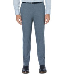 perry ellis men's portfolio slim-fit stretch subtle windowpane dress pants