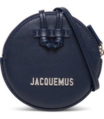jacquemus le pitchou crossbody bag in blue leather