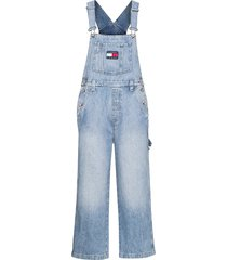 new dungaree denim ntslr jumpsuit blauw tommy jeans