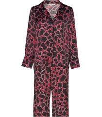 edie evening set pyjamas röd by malina