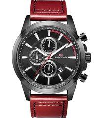 relógio cronógrafo philiph london masculino - pl80094612m pr preto