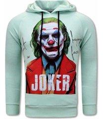 sweater tony backer joker print hoodies mint