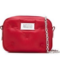 maison margiela micro glam slam shoulder bag - red