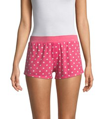 honeydew intimates women's evie star shorts - poppy stars - size l