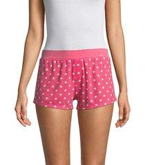 honeydew intimates women's evie star shorts - poppy stars - size l
