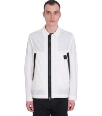 c.p. company casual jacket in white polyester