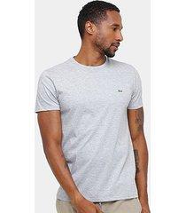 camiseta lacoste básica jersey masculina