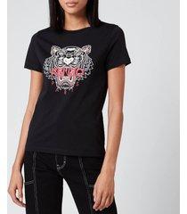 kenzo women's icon tiger t-shirt classic - black - l