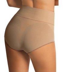 faja panty control suave marrón leonisa 012841