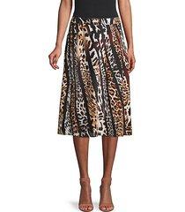 bari printed silk skirt