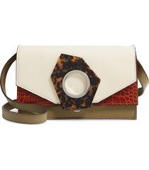 ganni colorblock leather crossbody bag -