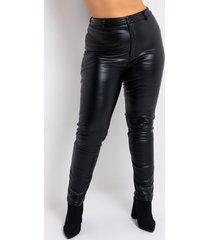 akira plus te quiero high rise vegan leather skinny pants