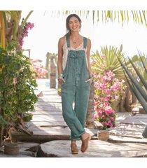 sundance catalog women's hannah overalls - petites in spruce petite xs