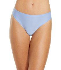 women's chantelle lingerie soft stretch thong, size one size - purple