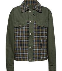 mastod jacket jeansjack denimjack groen holzweiler