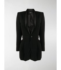dsquared2 silk lapel suit jacket playsuit