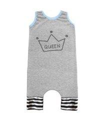 macacáo regata comfy queen cinza