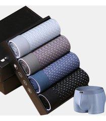 pugili modali traspiranti a maglia traspirante in tessuto di seta di ghiaccio intimo a quattro pezzi da uomo