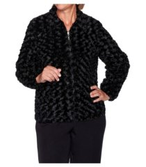 alfred dunner women's faux fur jacket