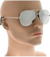 large silver mirror lens metal aviator trendy hipster big fashion sunglasses 215