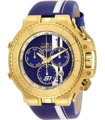 reloj invicta 28396 azul cuero hombre