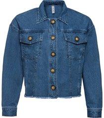 giacca di jeans con bottoni in simil corno (blu) - rainbow