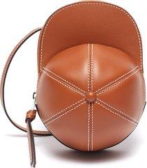'midi cap' leather crossbody bag