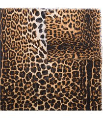 saint laurent leopard-print frayed scarf - brown