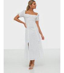 glamorous linen midi dress klänningar